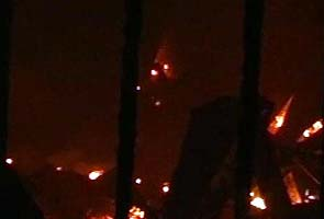 Six aircraft, a chopper gutted in fire at Hyderabad airport