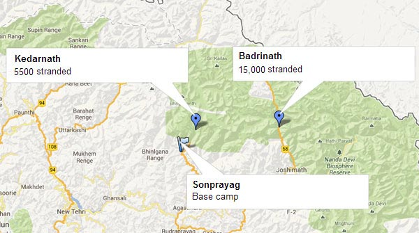 Uttarakhand rains  The Army s rescue plans for KedarnathUttarakhand Temple Map
