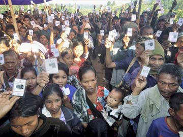 70 per cent turnout in Bru relief camps for Mizoram Assembly polls