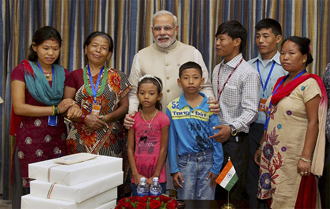 in nepal pm modi reunites jeet bahadur with his family after 16