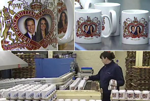 Prince William, Kate wedding mugs go into production