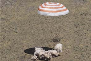 Soyuz lands safely in Kazakhstan after more than six months in space