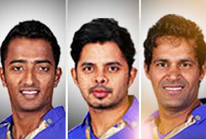 IPL 6 Match Fixers ,Chavan,Sreesanth and Chandila. fixed IPL 6 matches.