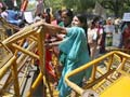 Delhi minor rape case: protesters try to storm barricades to reach Parliament