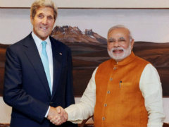 John Kerry Meets PM Narendra Modi in Prelude to Washington Summit