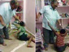 Young Children Beg Adult, Allegedly their Teacher, to Spare Them
