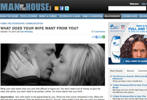 Website offers married men advice for the bedroom