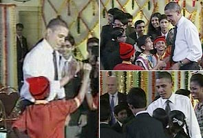 Dancing, Diwali: Obama's Second Day In India